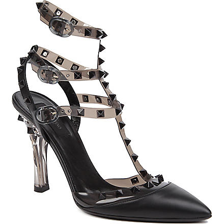 VALENTINO So Noir leather sandals (Black