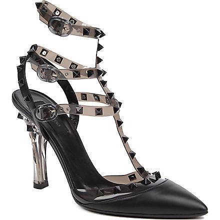 VALENTINO So Noir leather sandals (Black