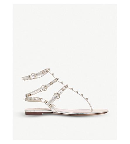 VALENTINO Rockstud gladiator sandals (Gold