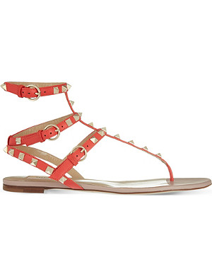 VALENTINO Rockstud leather gladiator sandals