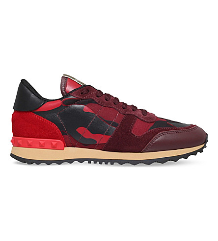 VALENTINO Camo-print trainers (Red/other