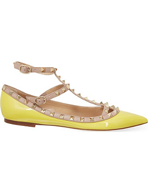 VALENTINO Leather ballet flats