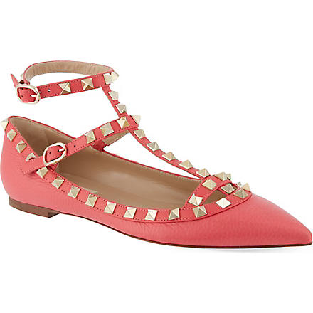 VALENTINO Rockstud ballet pumps (Pink