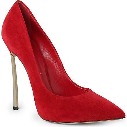 CASADEI Blade suede courts (Red