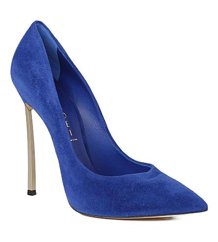 CASADEI Blade suede courts (Blue