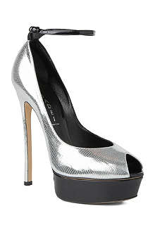 CASADEI Disco Cinderella peep-toe shoes