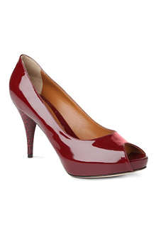 FENDI Superstar patent leather courts