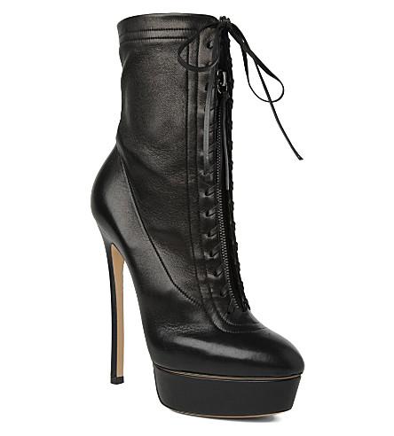 CASADEI Casadei mid-calf zip boots (Black