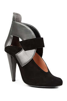 ROLAND MOURET Quatro leather and suede shoe boots