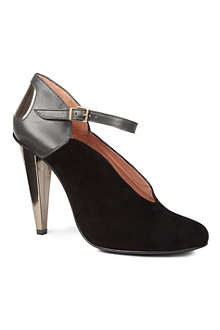 ROLAND MOURET Queen leather and suede ankle strap shoe boots