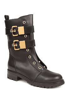 GIUSEPPE ZANOTTI Cathleen buckled leather ankle boots
