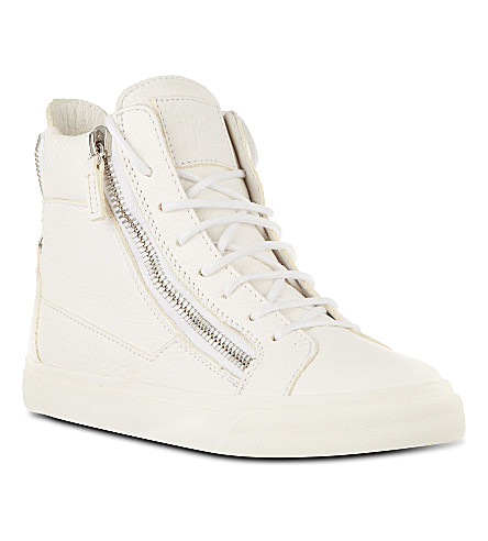 GIUSEPPE ZANOTTI Debbie leather high tops (White