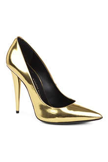 GIUSEPPE ZANOTTI Heidi metallic leather courts