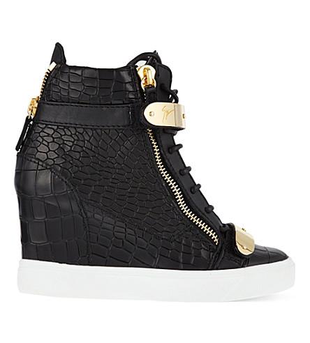 GIUSEPPE ZANOTTI Bucklewedge heels (Blk/other