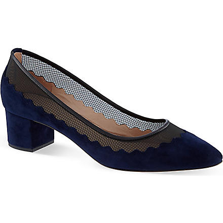 CHLOE Block heel courts (Navy