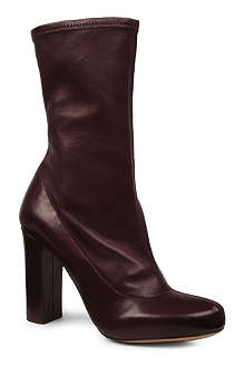 CHLOE Stretchank leather calf boots