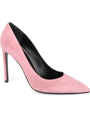 SAINT LAURENT Classic Paris escarpin pumps in pink suede