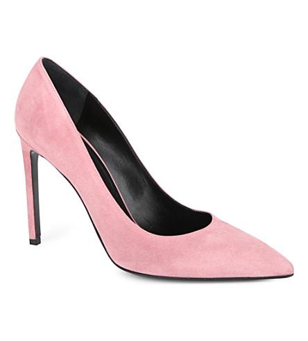 SAINT LAURENT Classic Paris escarpin pumps in pink suede (Fushia