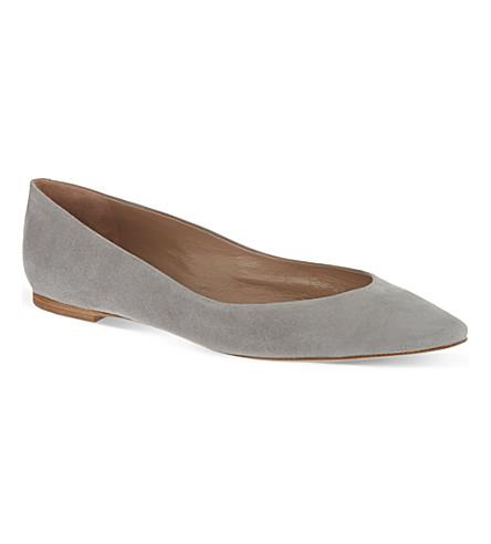 CHLOE Suede ballerina flats (Grey