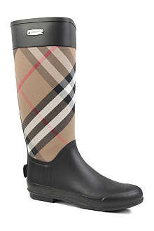 BURBERRY Clemence checked wellies