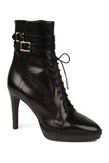 BURBERRY Manners leather ankle boots