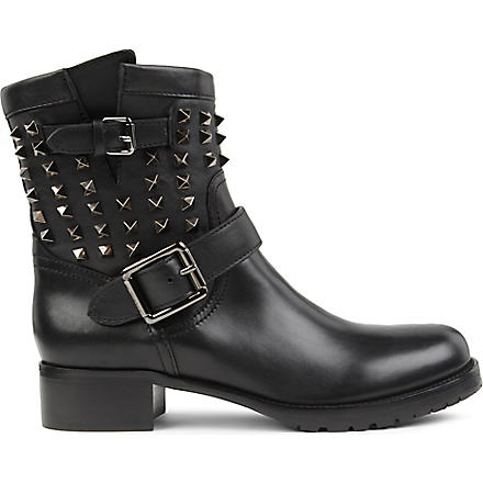 VALENTINO So Noir biker boots (Black