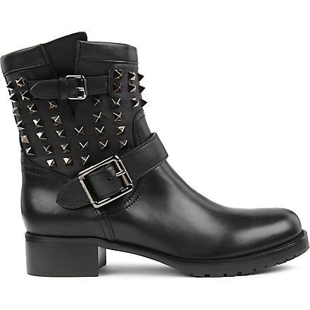 VALENTINO Rockstud noir biker boot (Black