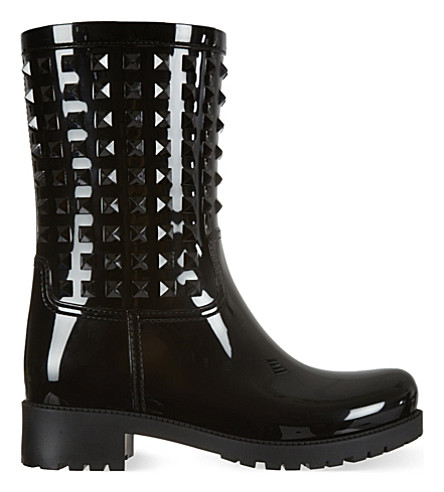 VALENTINO Rockstud wellington boots (Black