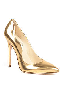 Brian Atwood Besame metallic leather courts