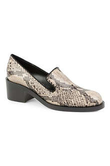 STELLA MCCARTNEY Corinne python-print loafers