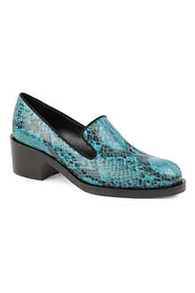 STELLA MCCARTNEY Peackock python-print loafers