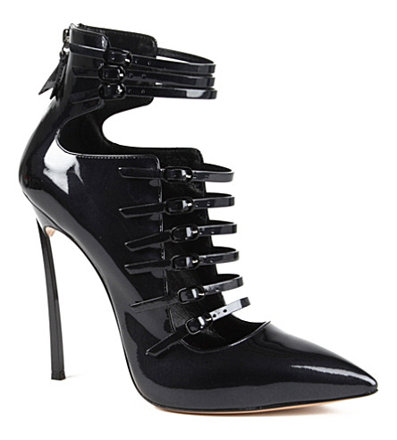 CASADEI Multistrap leather courts (Black