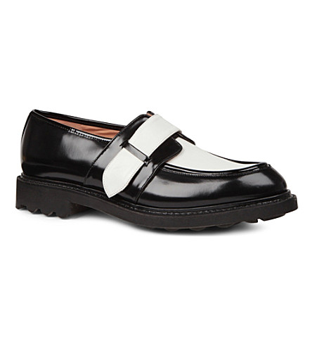 ROBERT CLERGERIE Romauld patent leather brogues (Blk/white