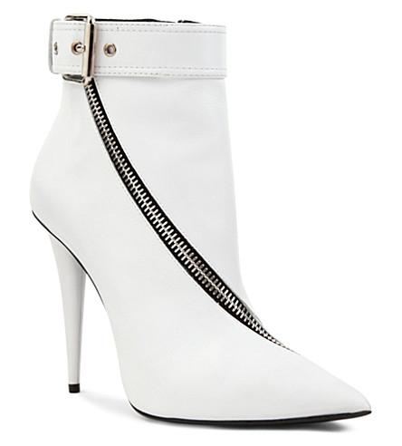 GIUSEPPE ZANOTTI Helen leather ankle boots (White