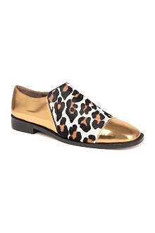 MARNI Gabby metallic leather loafers