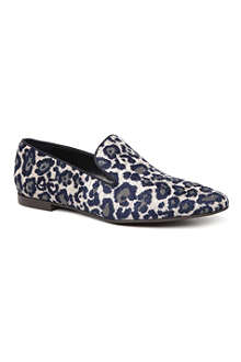 STELLA MCCARTNEY Kitty leopard-print canvas slippers