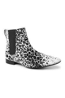BURBERRY Everdale animal print Chelsea boots