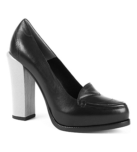 FENDI Faith leather courts (Black