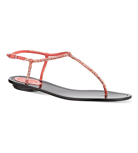 RENE CAOVILLA Herminoe sandals (Orange