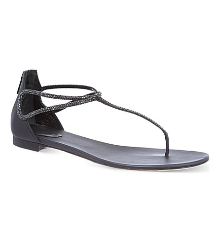 RENE CAOVILLA Luna glitter sandals (Bronze