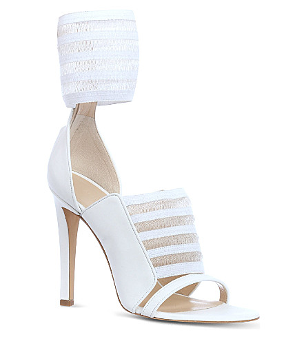 CHRISTOPHER KANE Arrabella leather sandals (White