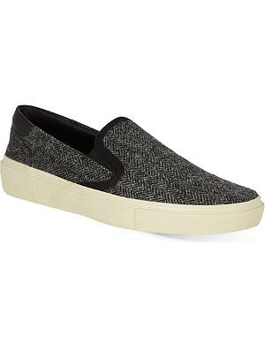 SAINT LAURENT Herringbone skater shoes