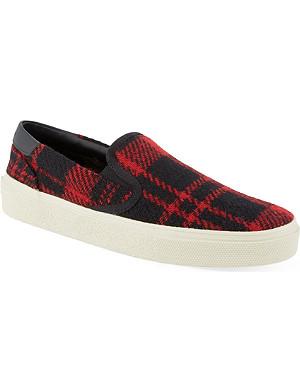 SAINT LAURENT Checked skate shoes