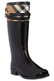 BURBERRY Elderford checked trim wellies