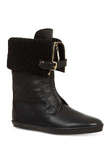 BURBERRY Stanmore fleece-lined boots