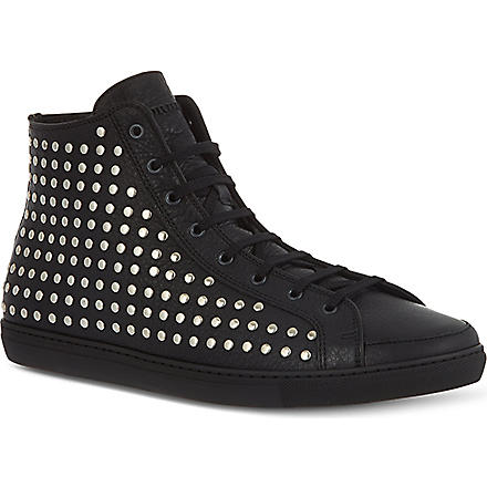 BURBERRY Cattell high-top trainers (Black