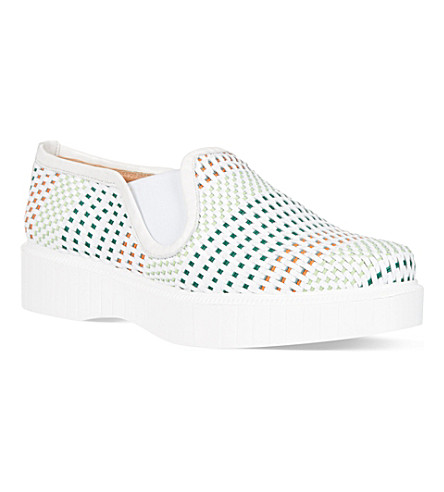 ROBERT CLERGERIE Prata wedge skate shoes (White