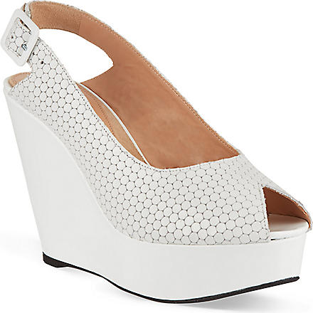 ROBERT CLERGERIE Bustyma platform wedge sandals (White