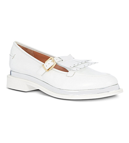 ROBERT CLERGERIE Favane leather loafers (White