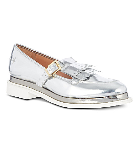 ROBERT CLERGERIE Favane metallic loafers (Silver